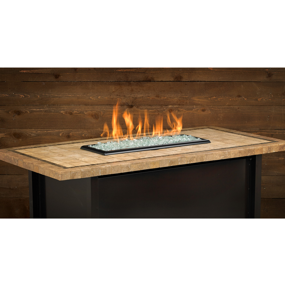 Carmel Series Outdoor Gas Fire Pit Table By American Fire Products, Rectangle, 54-inch Long, Capistrano Mosaic Top