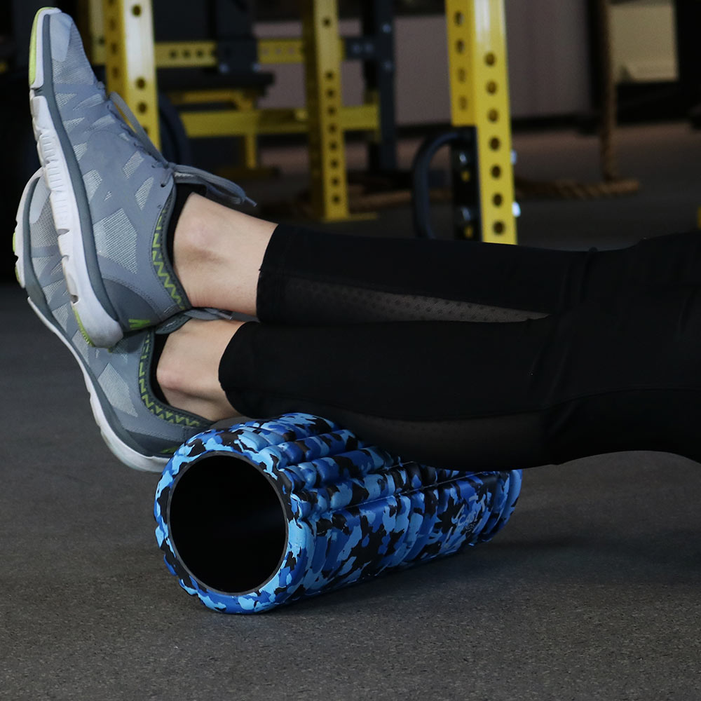 Casl Brands High Density Foam Roller For Deep Tissue Muscle Massage, 13 Inch, Blue Camo - Perfect For Athletes, Physical Therapy, And Exercise Workouts