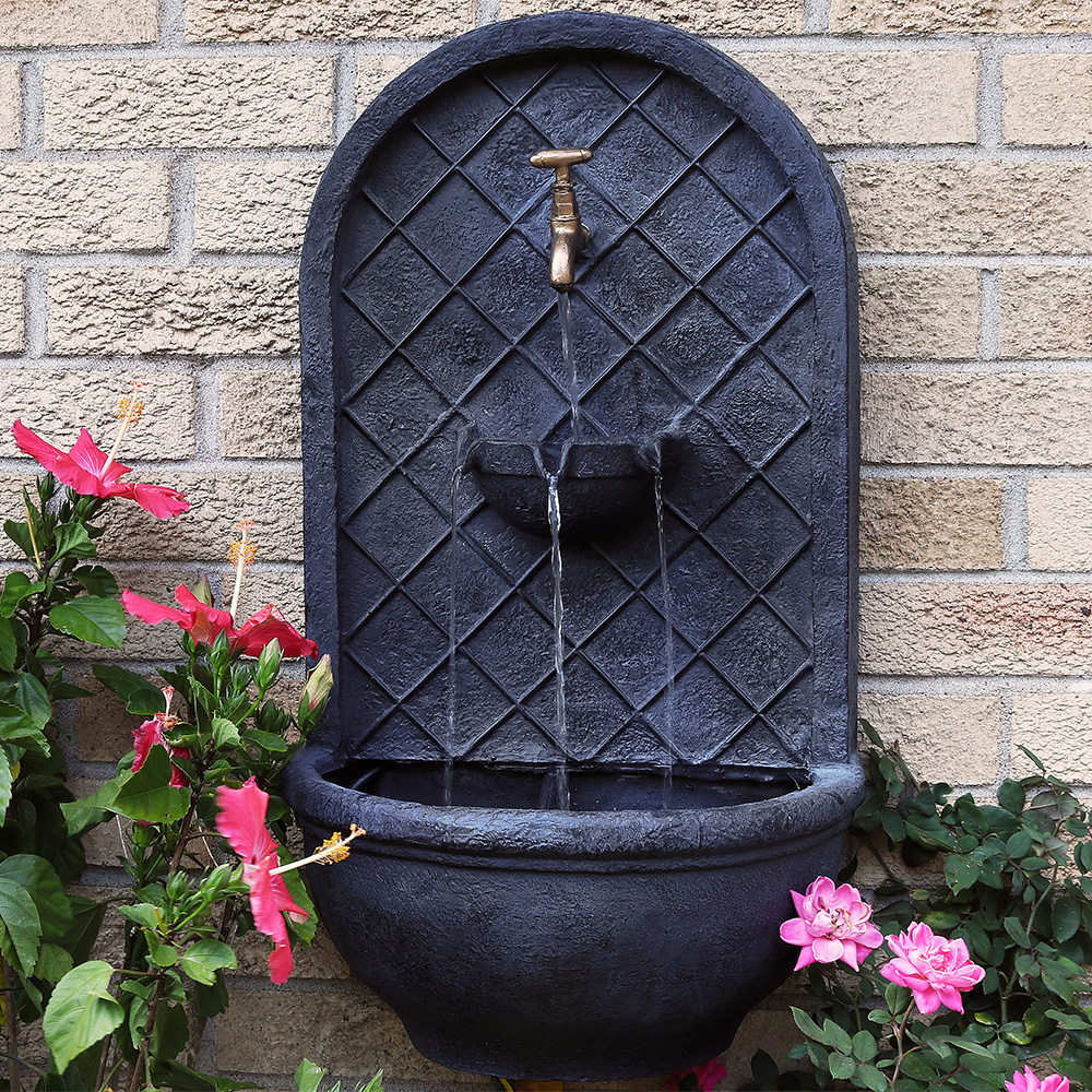 Sunnydaze Messina Solar Wall Fountain Lead Photo