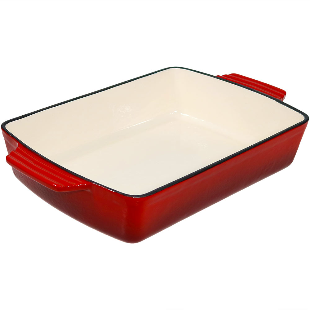 Enameled Cast Iron Deep Baking Dish Roaster Lasagna Pan  Picture 904