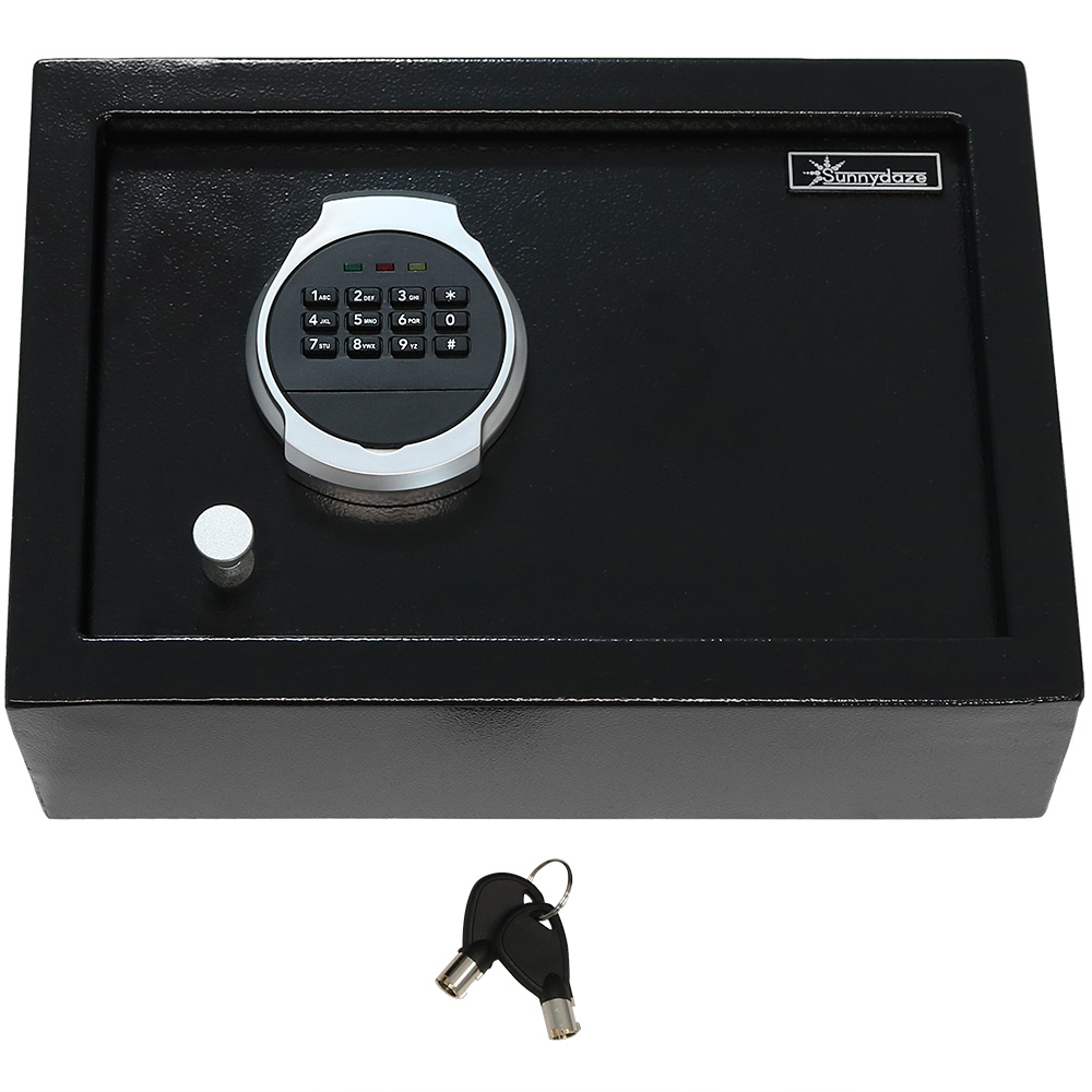 Sunnydaze Steel Digital Home Security Top Open Safe Photo
