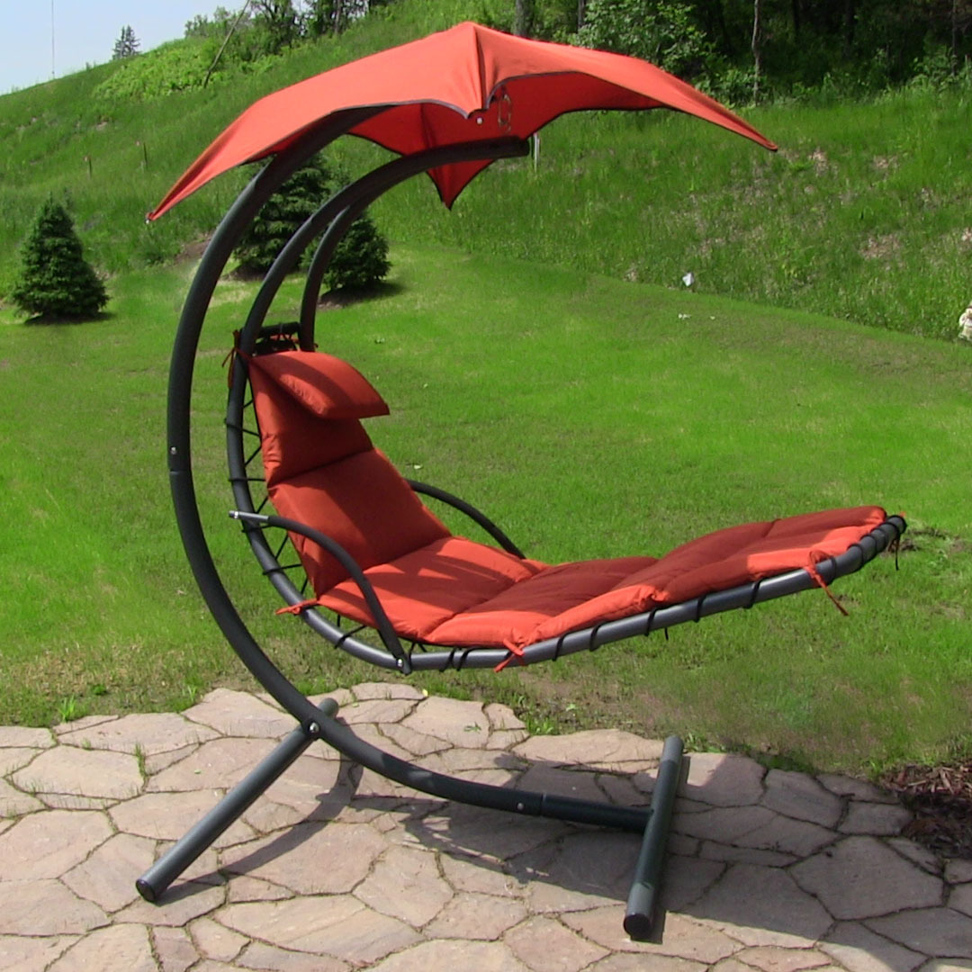 Sunnydaze Floating Chaise Lounger Swing Chair Picture 342