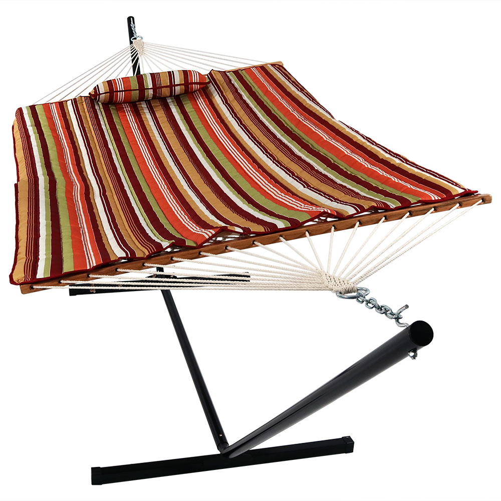 Rope Hammock With Stand Pad Amp Pillow Portable Heavy