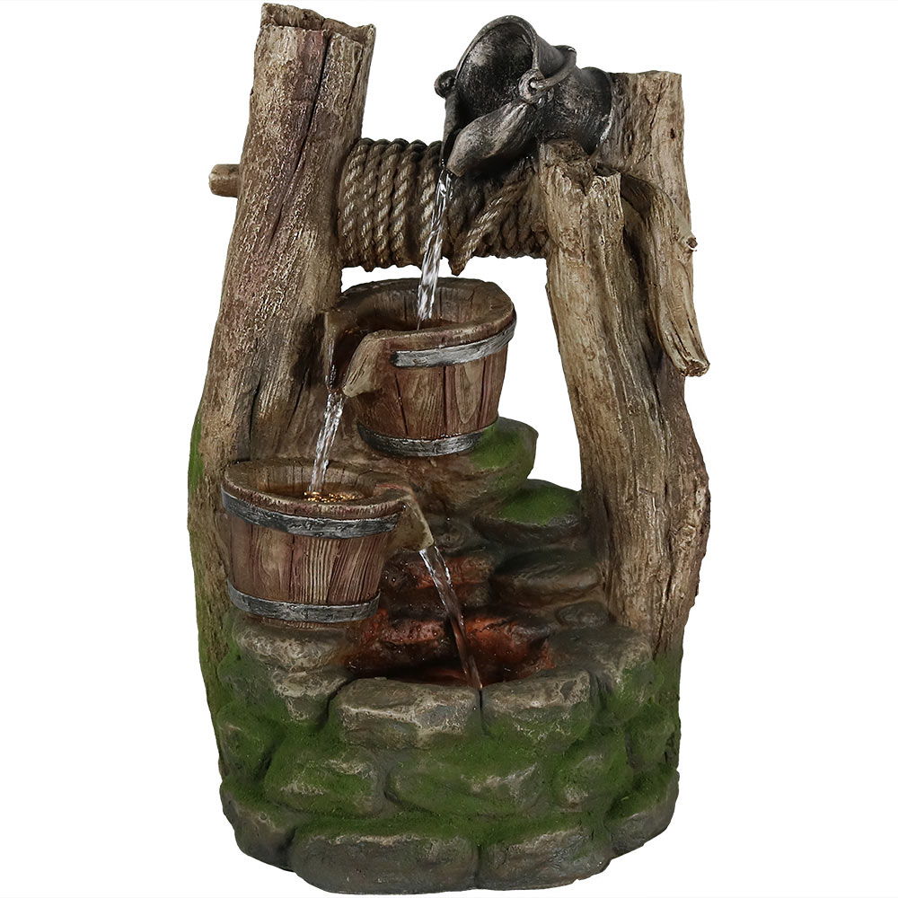 Outdoor Wishing Well Garden Water Fountain Feature