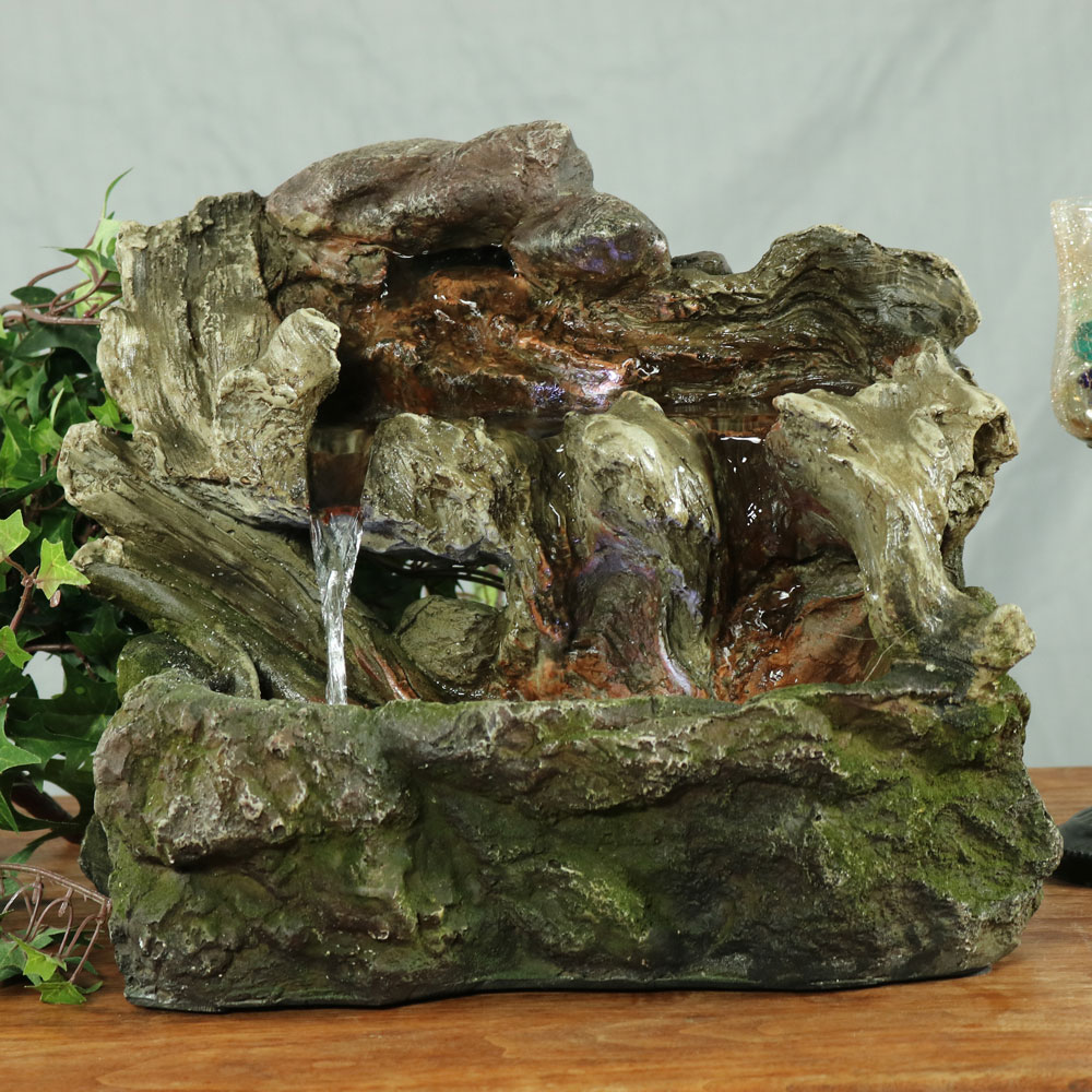 Sunnydaze Aged Tree Trunk Tabletop Fountain Picture 891