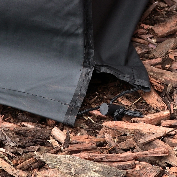Fire Pit Cover Square Black Long Lasting Weather