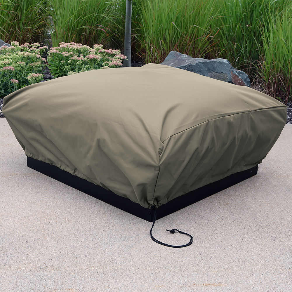 Sunnydaze Heavy Duty Square Khaki Fire Pit Cover Square Image 284
