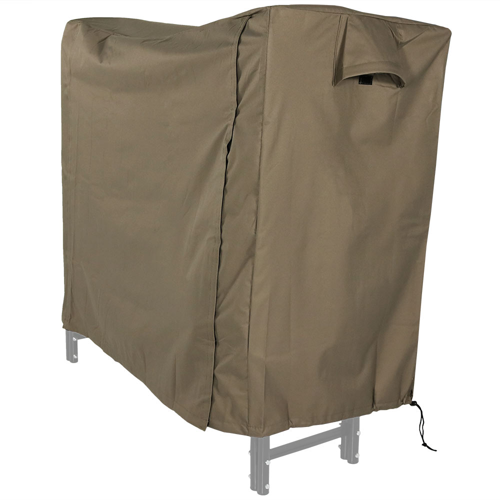 Sunnydaze Heavy Duty Firewood Log Rack Cover Khaki Foot Picture 955