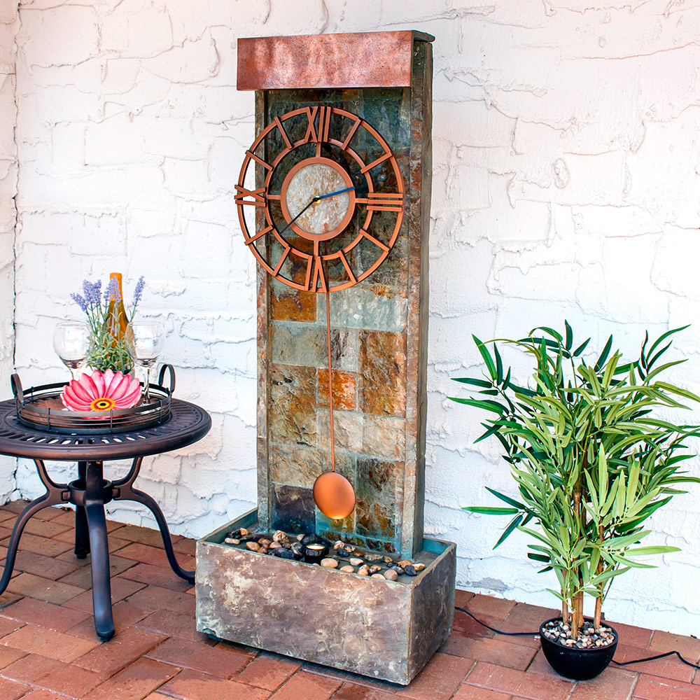 Sunnydaze Slate Indoor Outdoor Water Fountain Picture 142