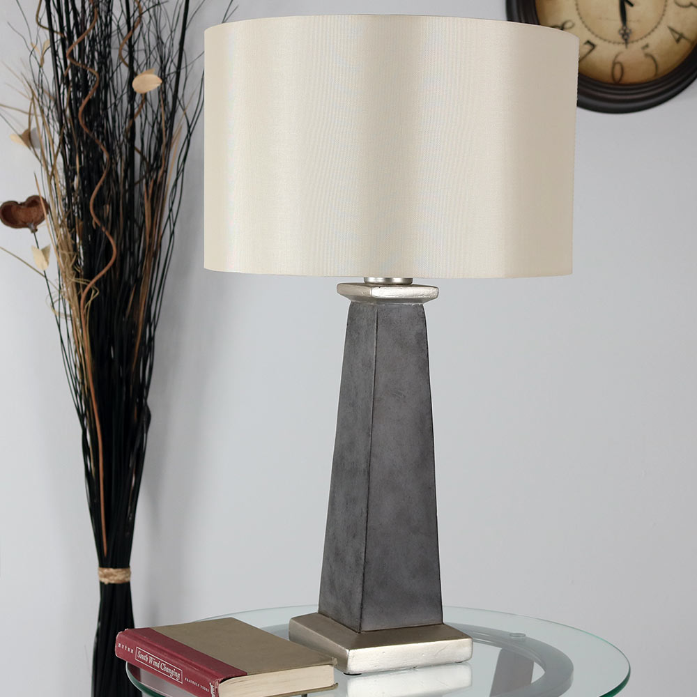 Sunnydaze Indoor Outdoor Modern Concrete Pillar Table Lamp Picture 594