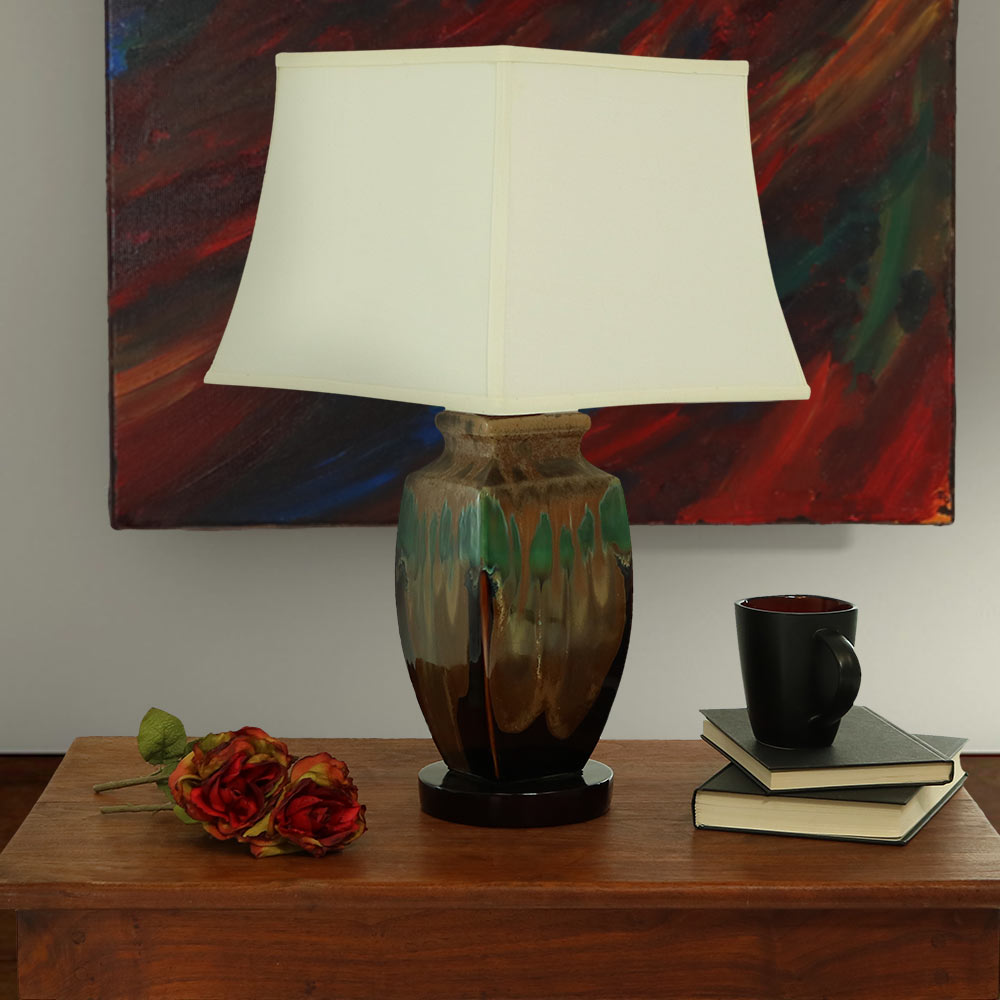 Sunnydaze Indoor Outdoor Multi Colored Ceramic Table Lamp Picture 642