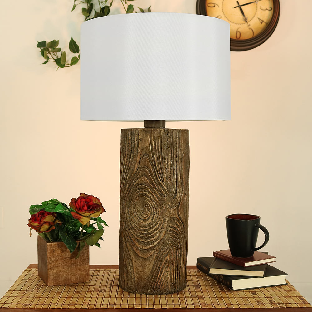 Sunnydaze Indoor Outdoor Nature Inspired Log Polyresin Table Lamp Picture 664