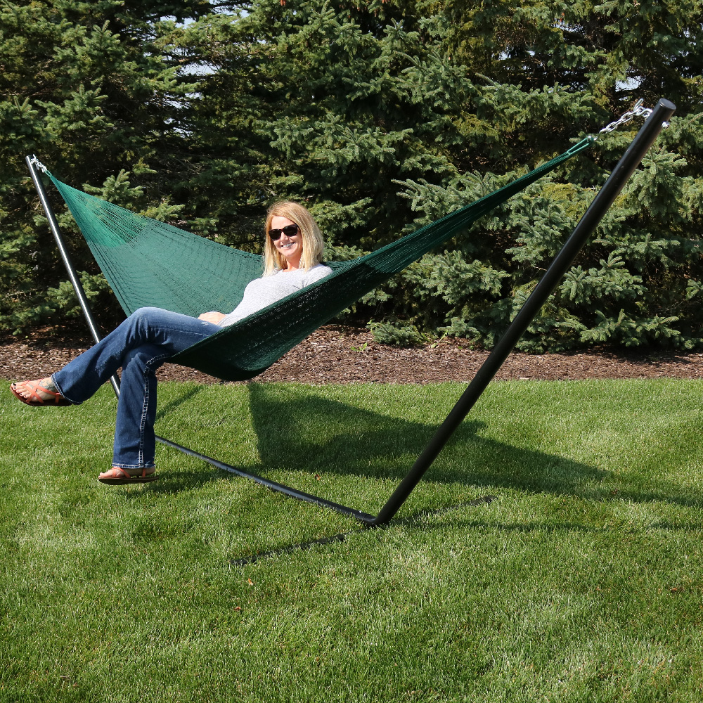Sunnydaze Double Mayan Hammock Stand Combo  Picture 466