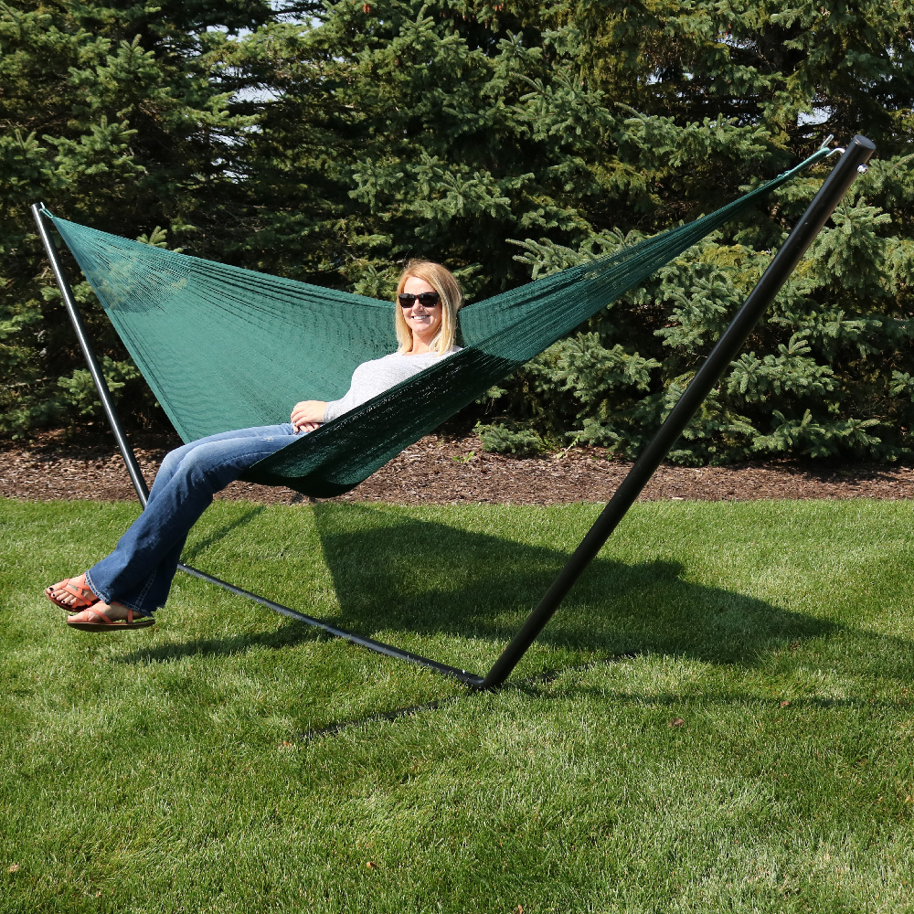 Sunnydaze Portable Hand Woven Person Mayan Hammock Family Size Pound Capacity Picture 815