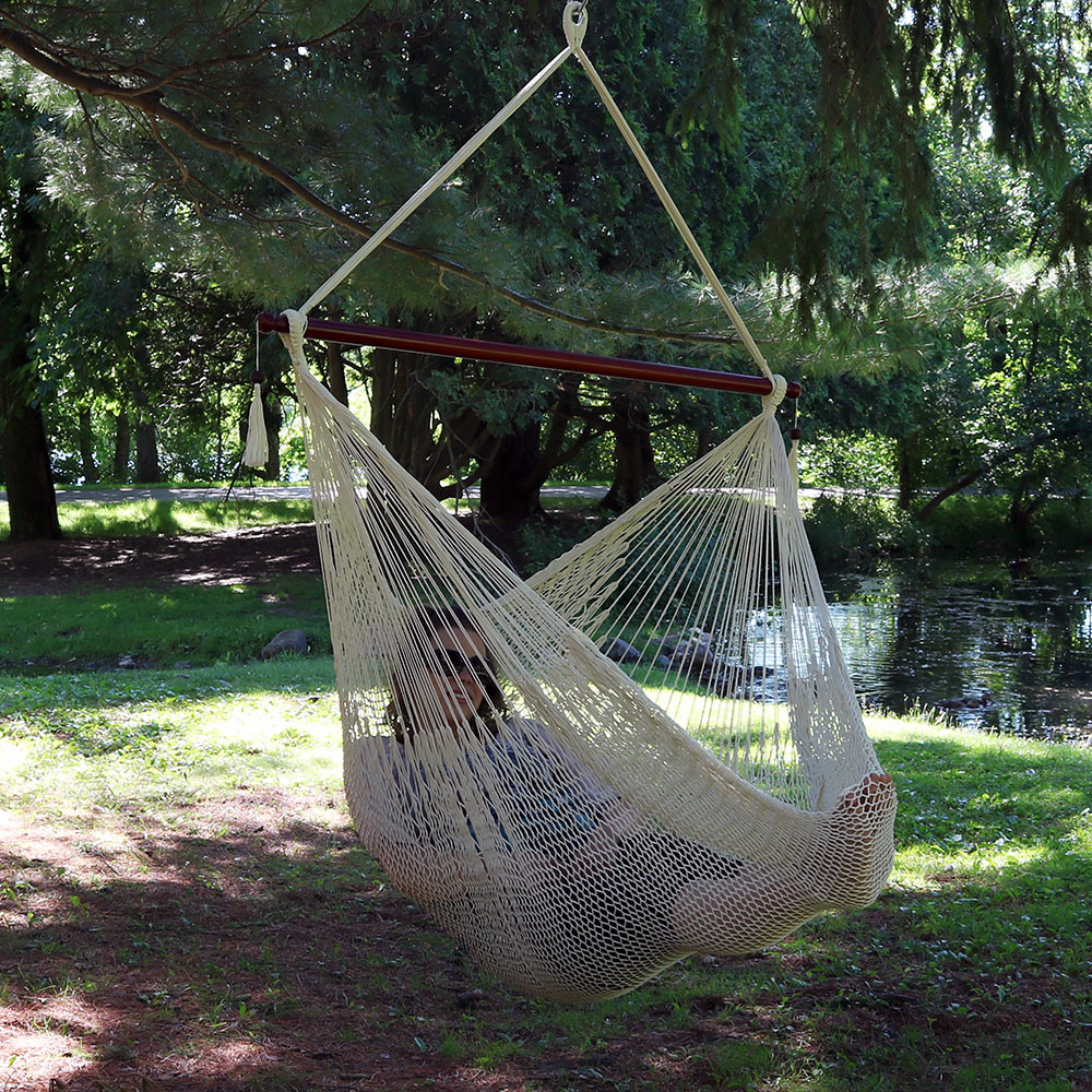 Sunnydaze Hanging Cabo Extra Large Hammock Chair Wide Spreader Bar Ma Weight Pounds Crea Picture 862
