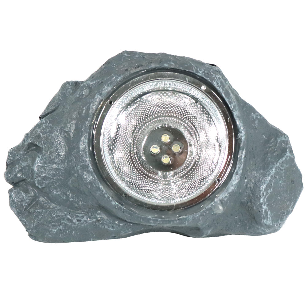 Solar powered outdoor small rock garden accent with white for Small landscape lights