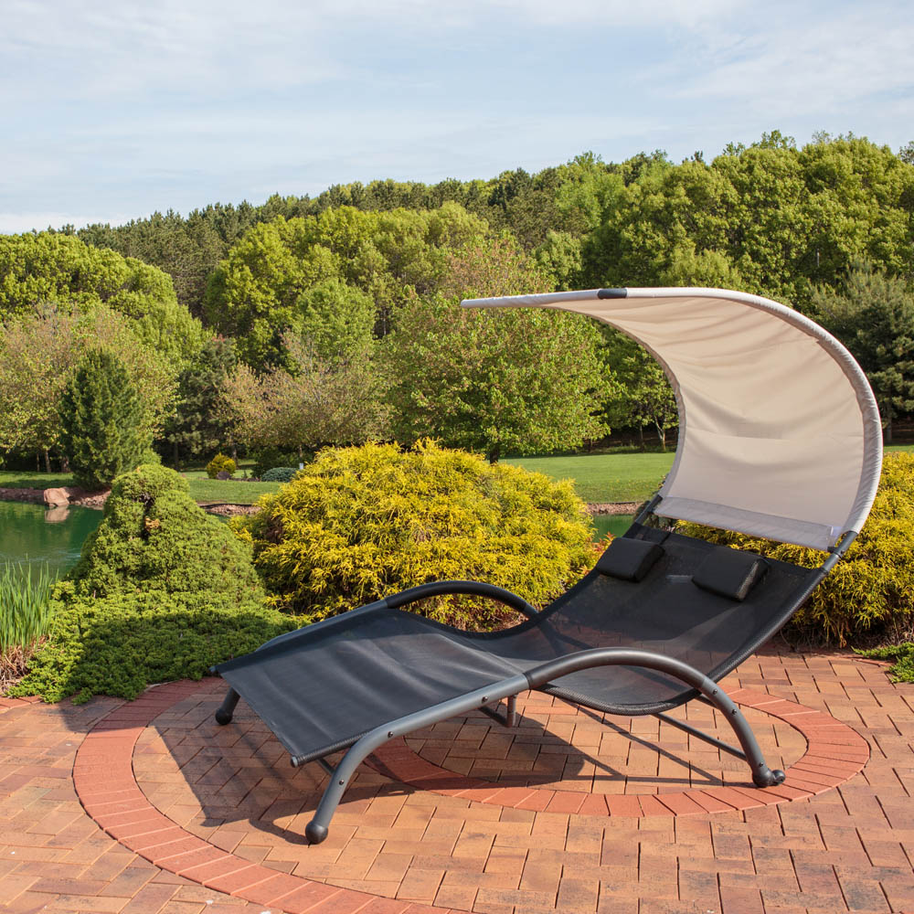 Sunnydaze Double Chaise Lounger Photo