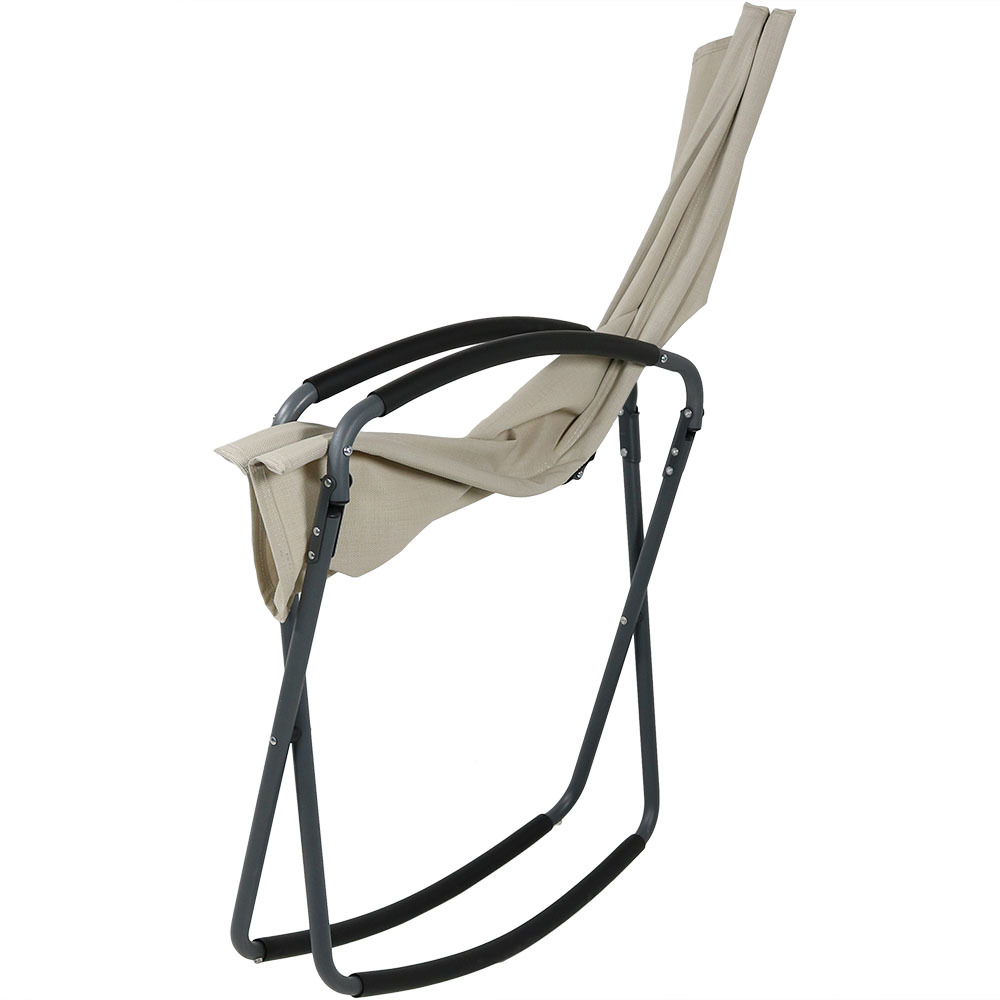 Sunnydaze Outdoor Patio Sling Back Rocking Folding Lounge