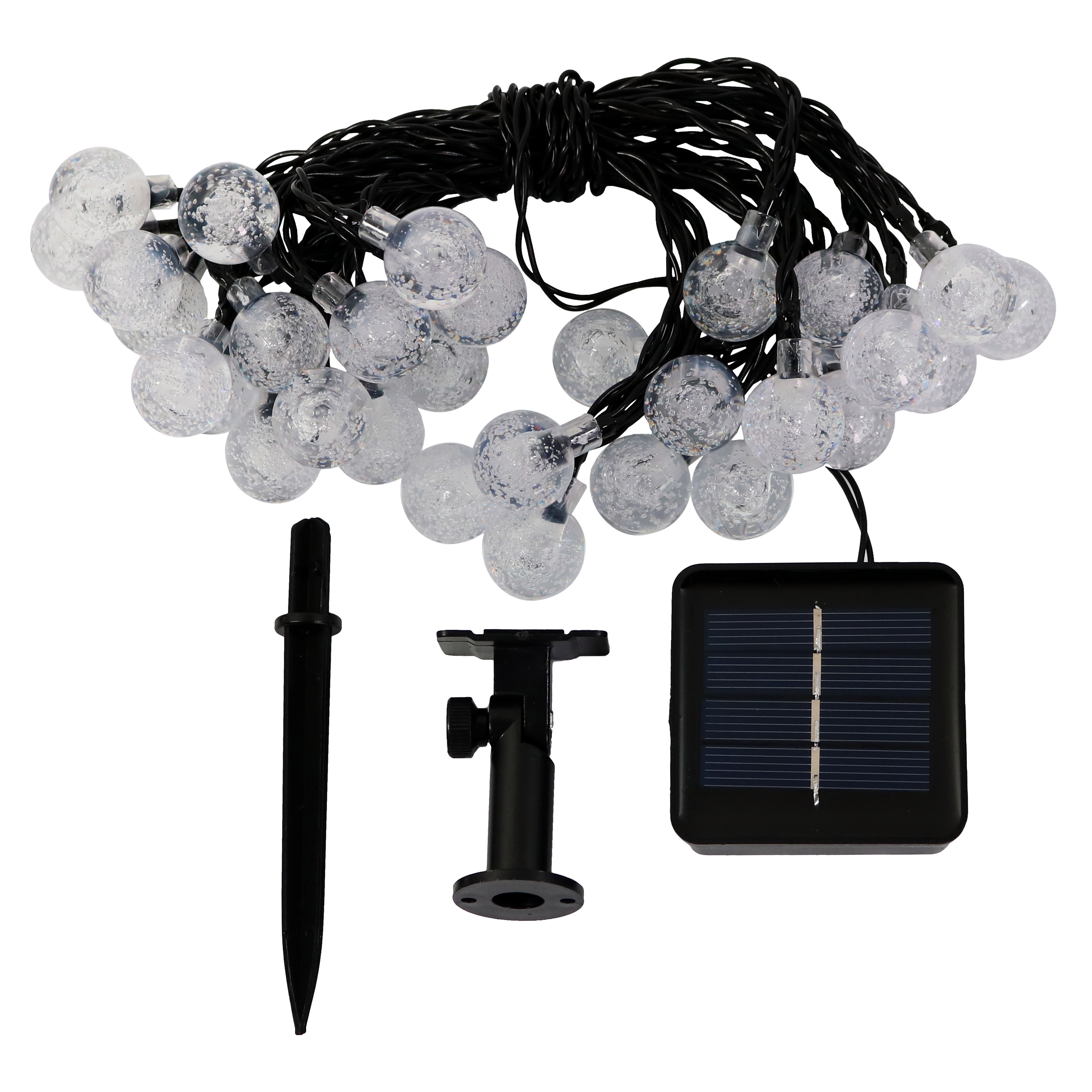 Colored String Lights For Patio : Sunnydaze Solar Powered 30 Count Patio Globe String Lights - Multiple Colors eBay