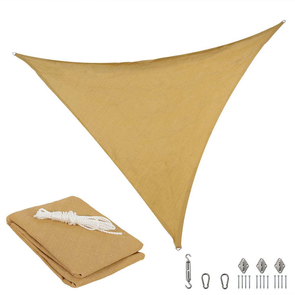 Sunnydaze Beige Triangle Sun Shade Sail Photo