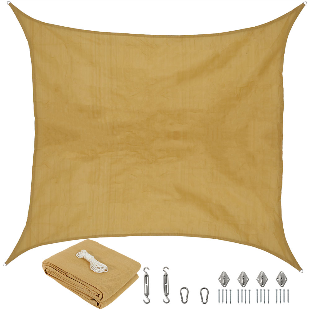 Sunnydaze Beige Square Sun Shade Sail Photo