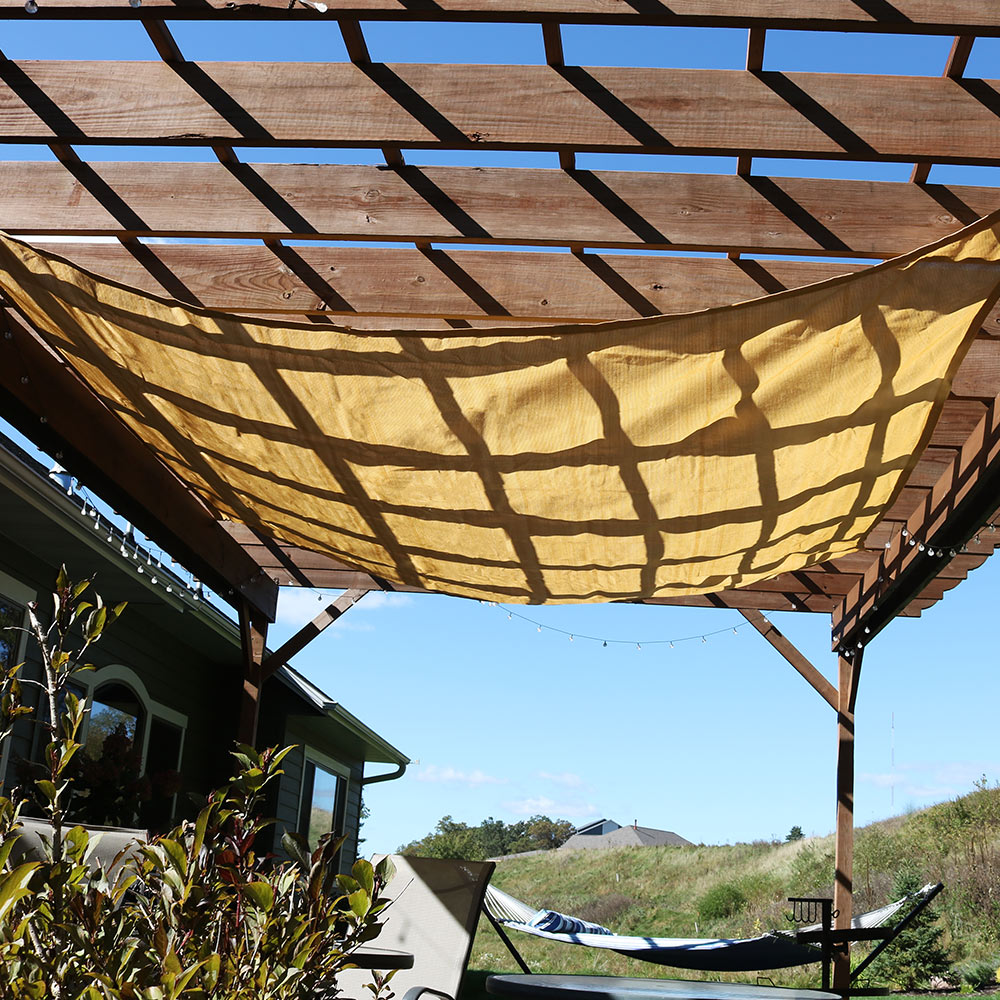 Sunnydaze Beige Square Sun Shade Sail Patio Lawn Garden Foot Picture 764