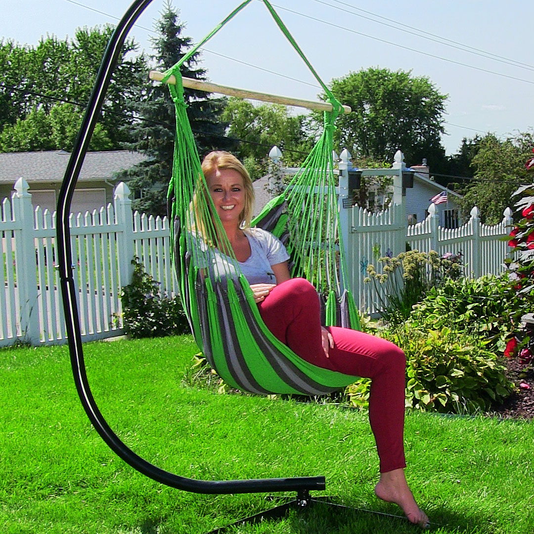 Hanging hammock chair swing for indoor outdoor use max for Hanging couch swing