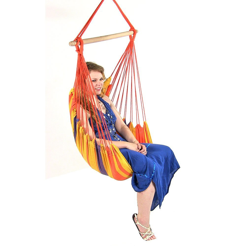 Hanging hammock chair swing for indoor outdoor use max 265 lb multiple options ebay - Choosing a hammock chair for your backyard ...