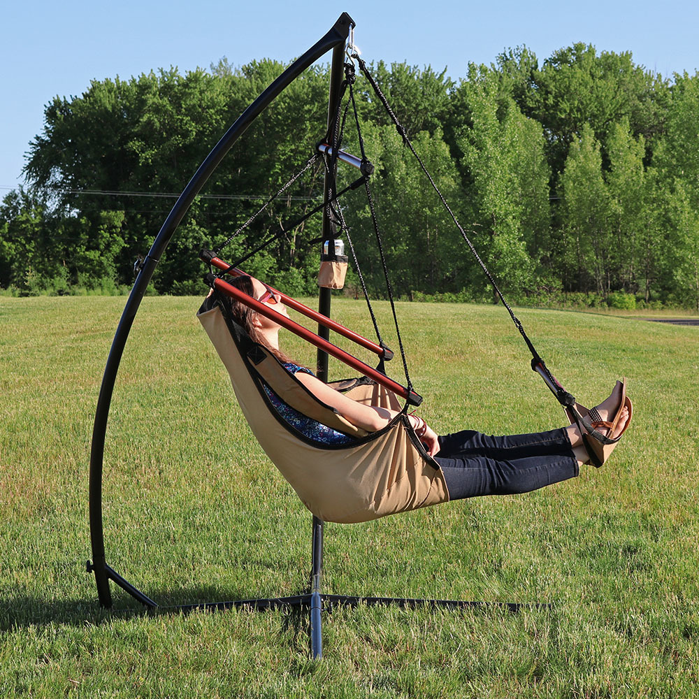 Sunnydaze Durable X Stand And Hanging Hammock Chair Set Or