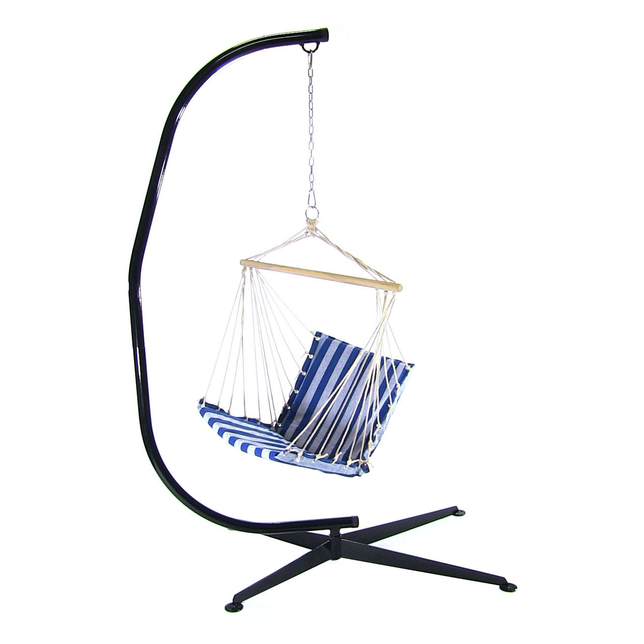 Hanging Soft Cushioned Hammock Chair W Footrest
