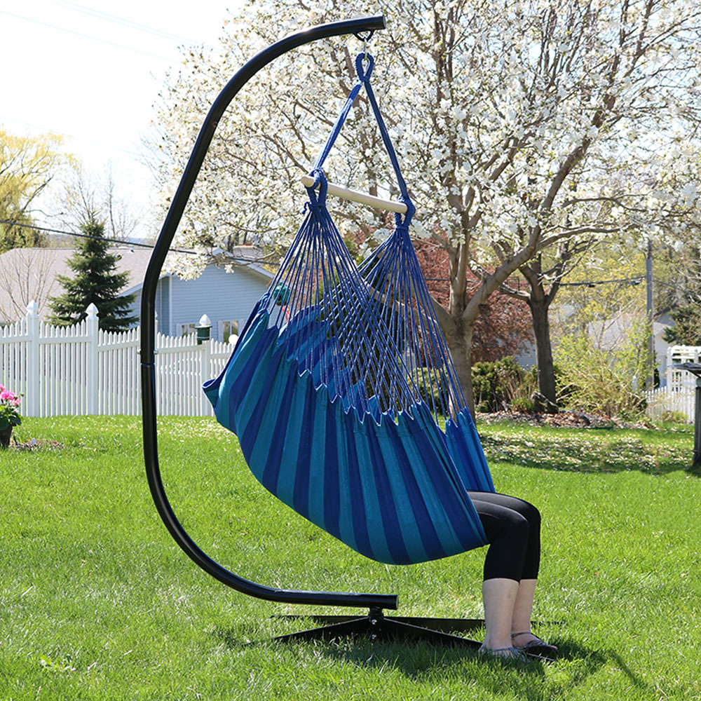 Jumbo hanging chair hammock swing or hammock and c stand combo multiple options ebay - Choosing a hammock chair for your backyard ...