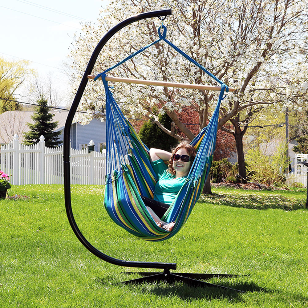 Jumbo Hanging Chair Hammock Swing or Hammock and C-Stand ...