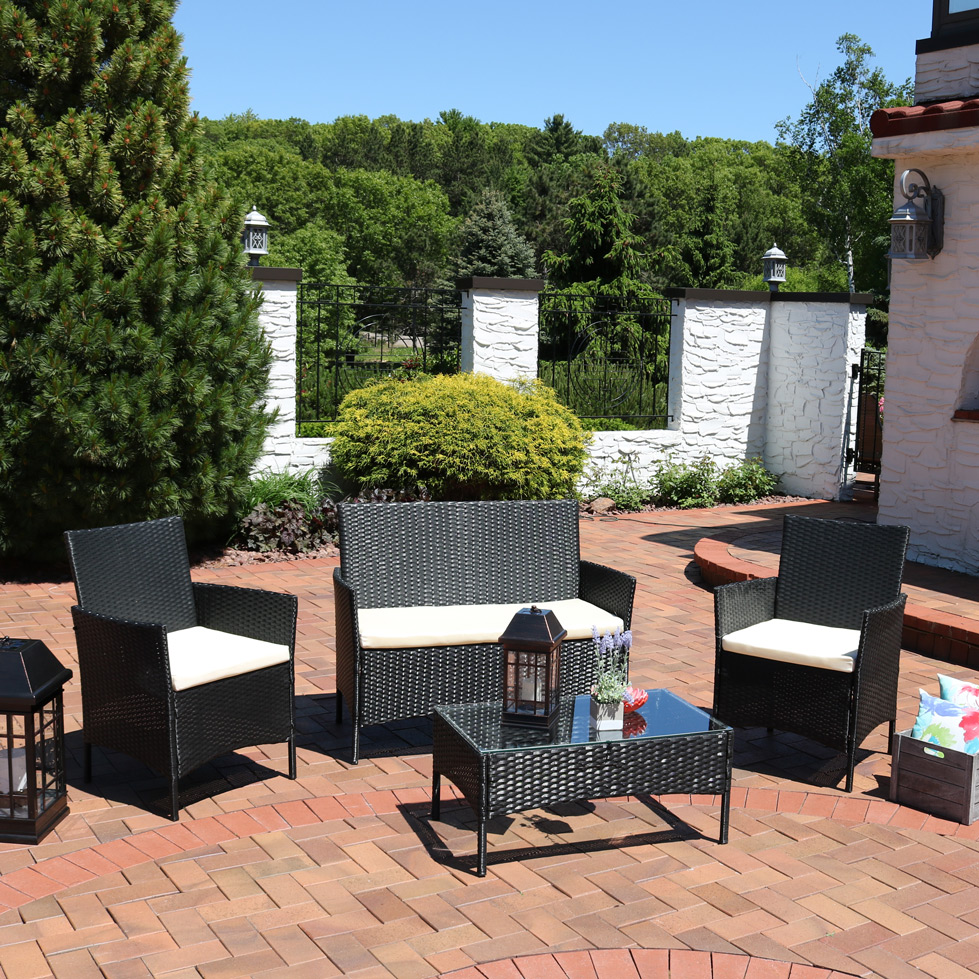 Sunnydaze Adelaide Rattan Patio Furniture Set Picture 236