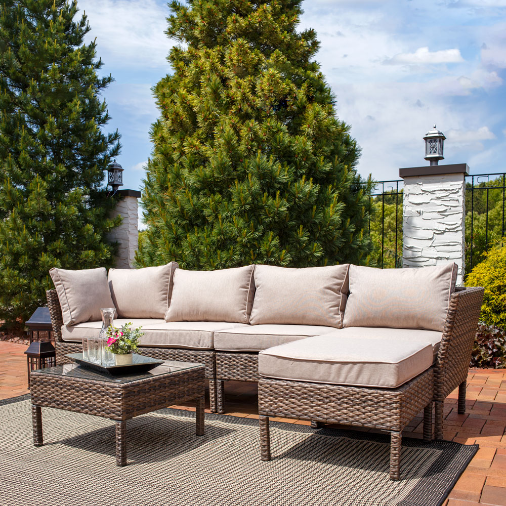 Sunnydaze Belgrano Wicker Rattan Sofa Sectional Patio Furniture Set Picture 118