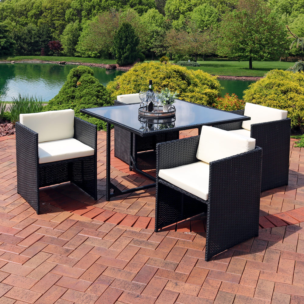 Sunnydaze Miliani Outdoor Dining Patio Furniture Set Photo