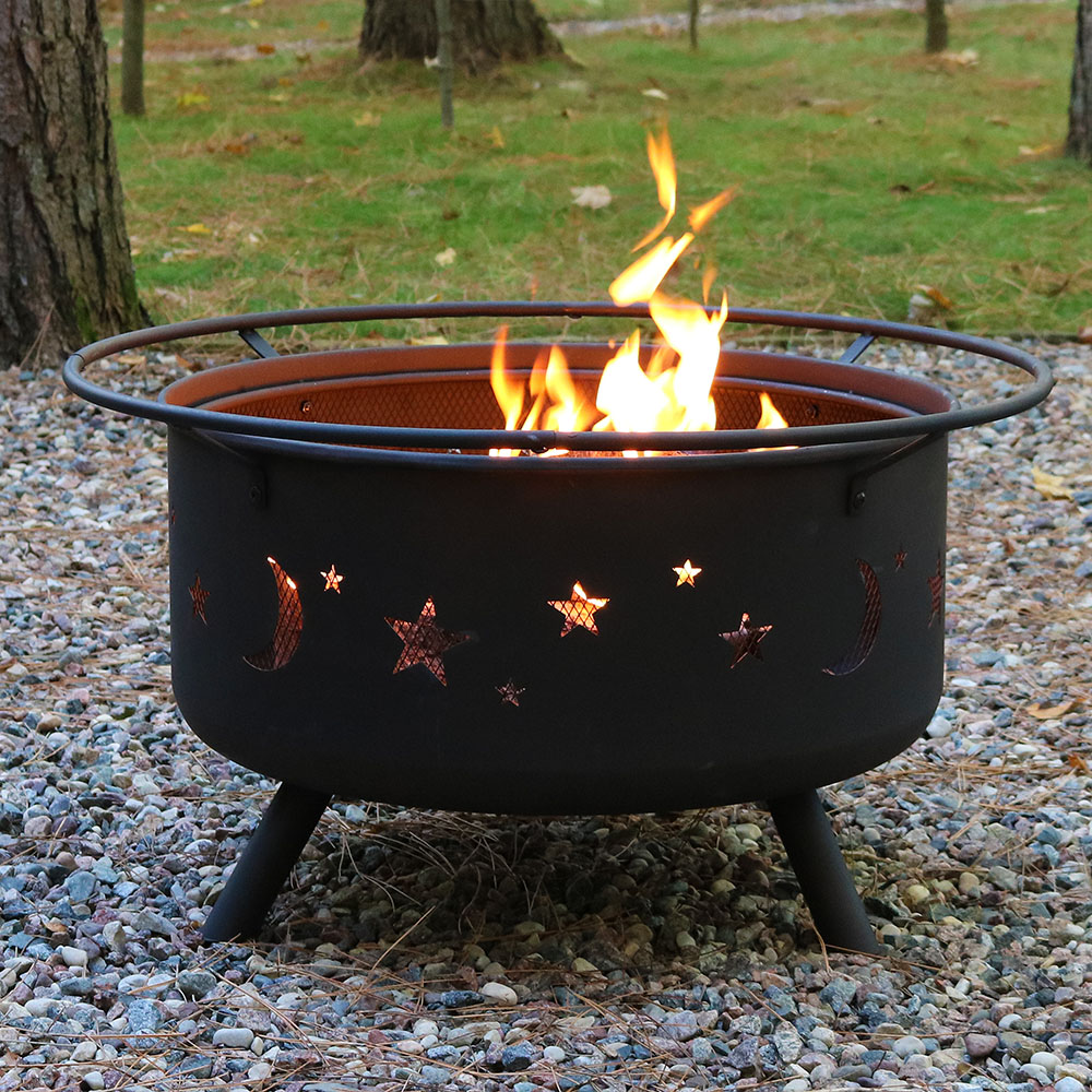 Large Cosmic Fire Pit or Fire Pit & Cooking Grill Combo ...