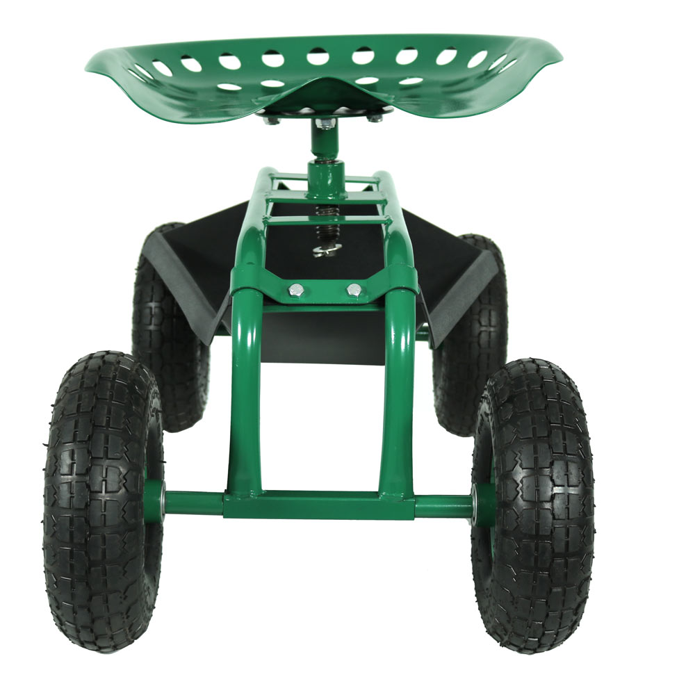 Rolling Garden Cart With 360 Degree Swivel Seat Tray Utility Color Options Ebay