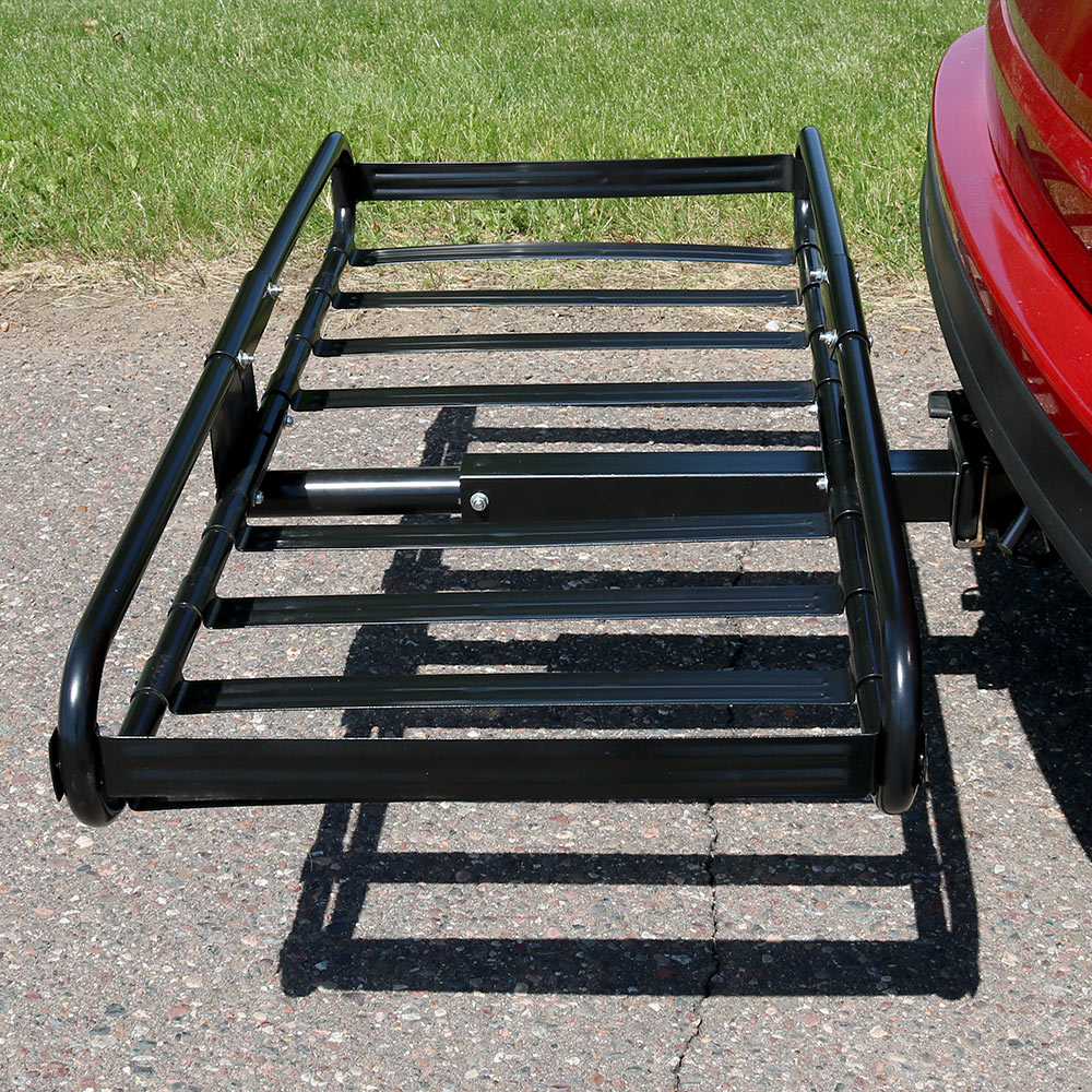 Basket Style Heavy Duty Steel Hitch Mounted Cargo Carrier Rack Image 671