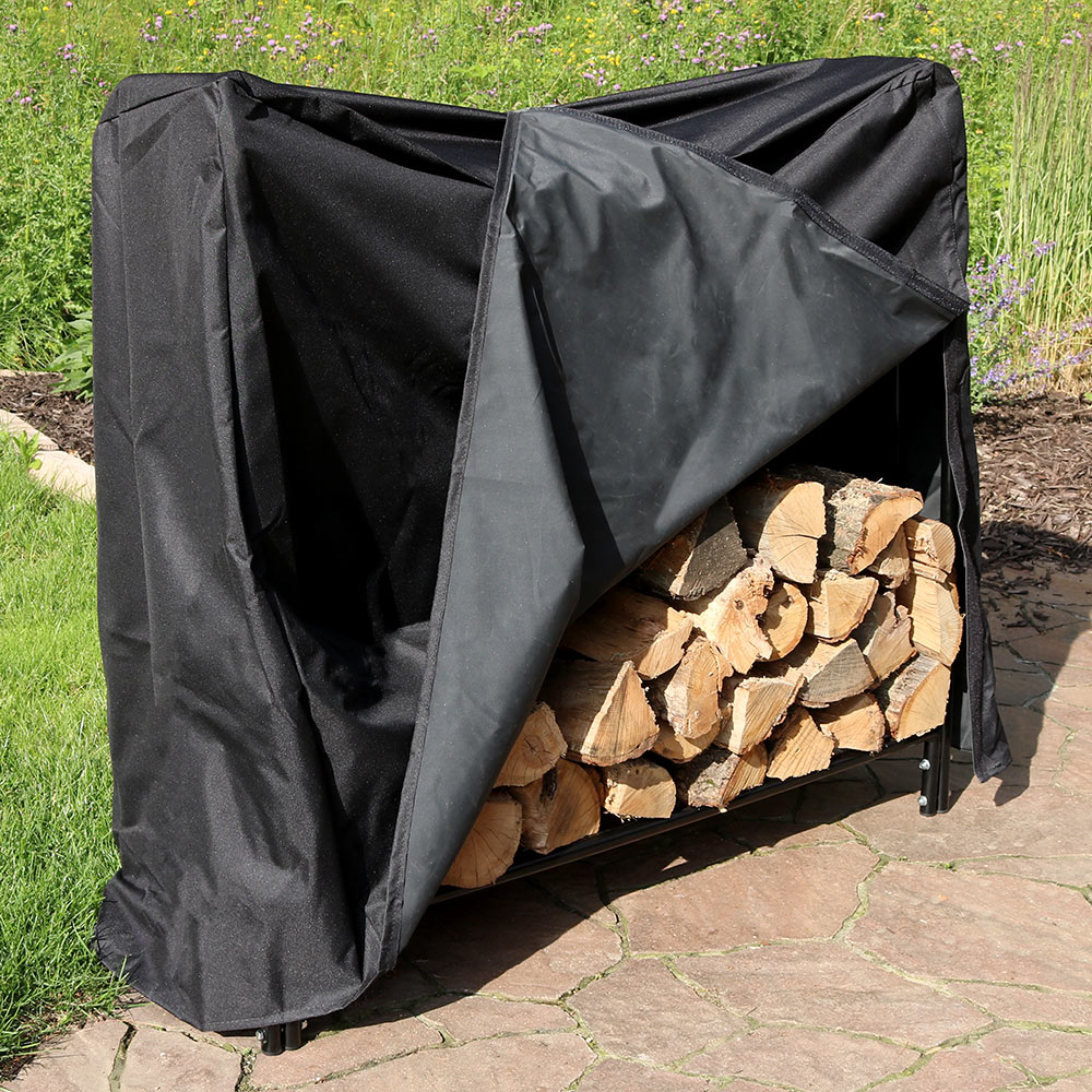 Sunnydaze Foot Decorative Firewood Log Rack Cover Combo Picture 642