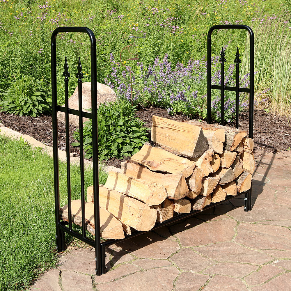 Sunnydaze Foot Indoor Outdoor Decorative Firewood Log Rack Image 61
