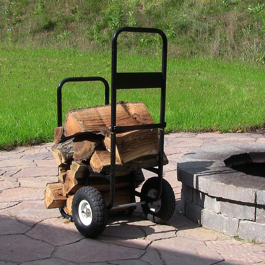 Sunnydaze Firewood Log Cart Log Cart Cover Combo Picture 764