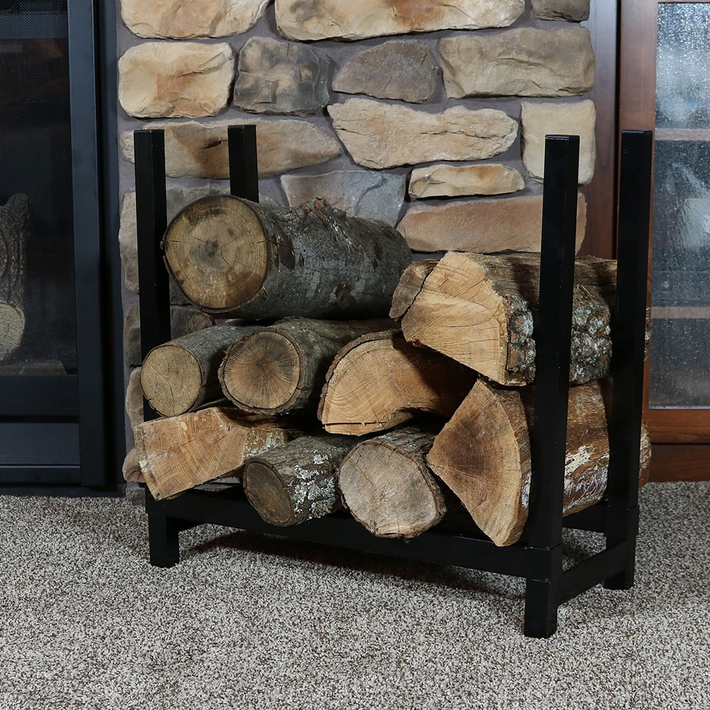 Indoor Firewood Log Rack, 2-Foot, Steel, Strong, Storage ...