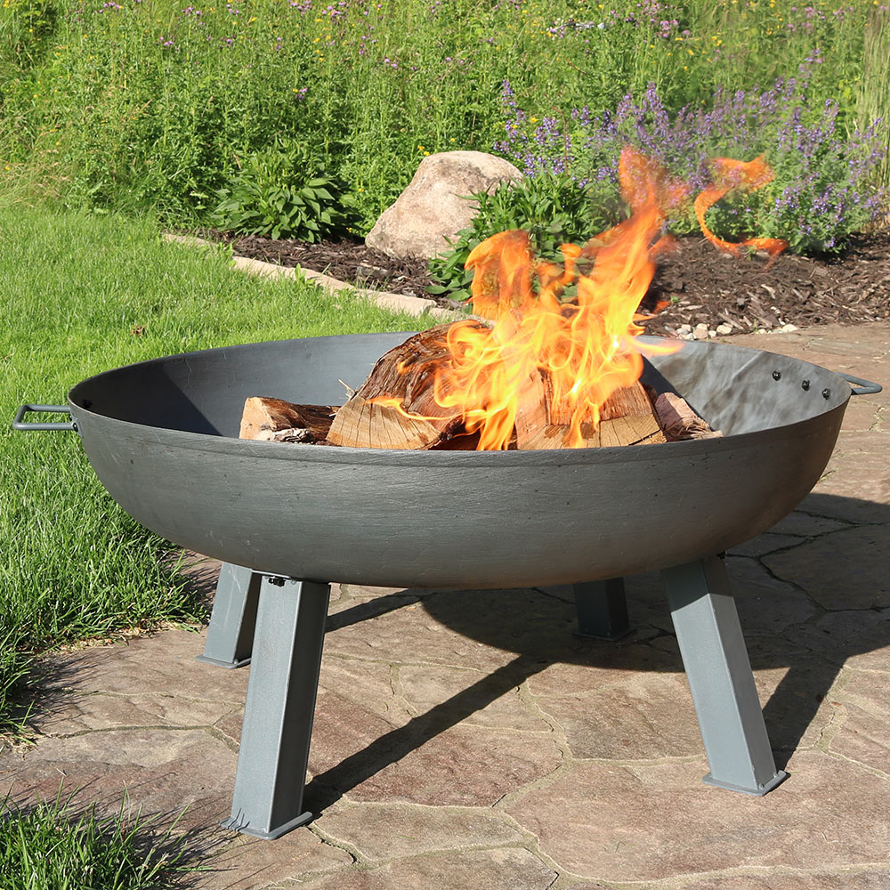 Sunnydaze Steel Colored Cast Iron Wood Burning Fire Pit Bowl Diameter Picture 468