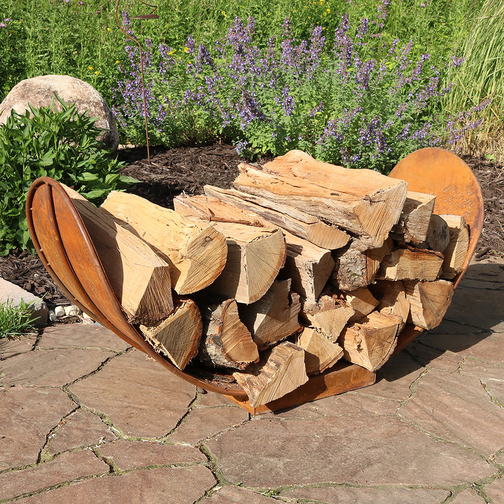 Sunnydaze Foot Rustic Outdoor Firewood Log Rack Picture 769