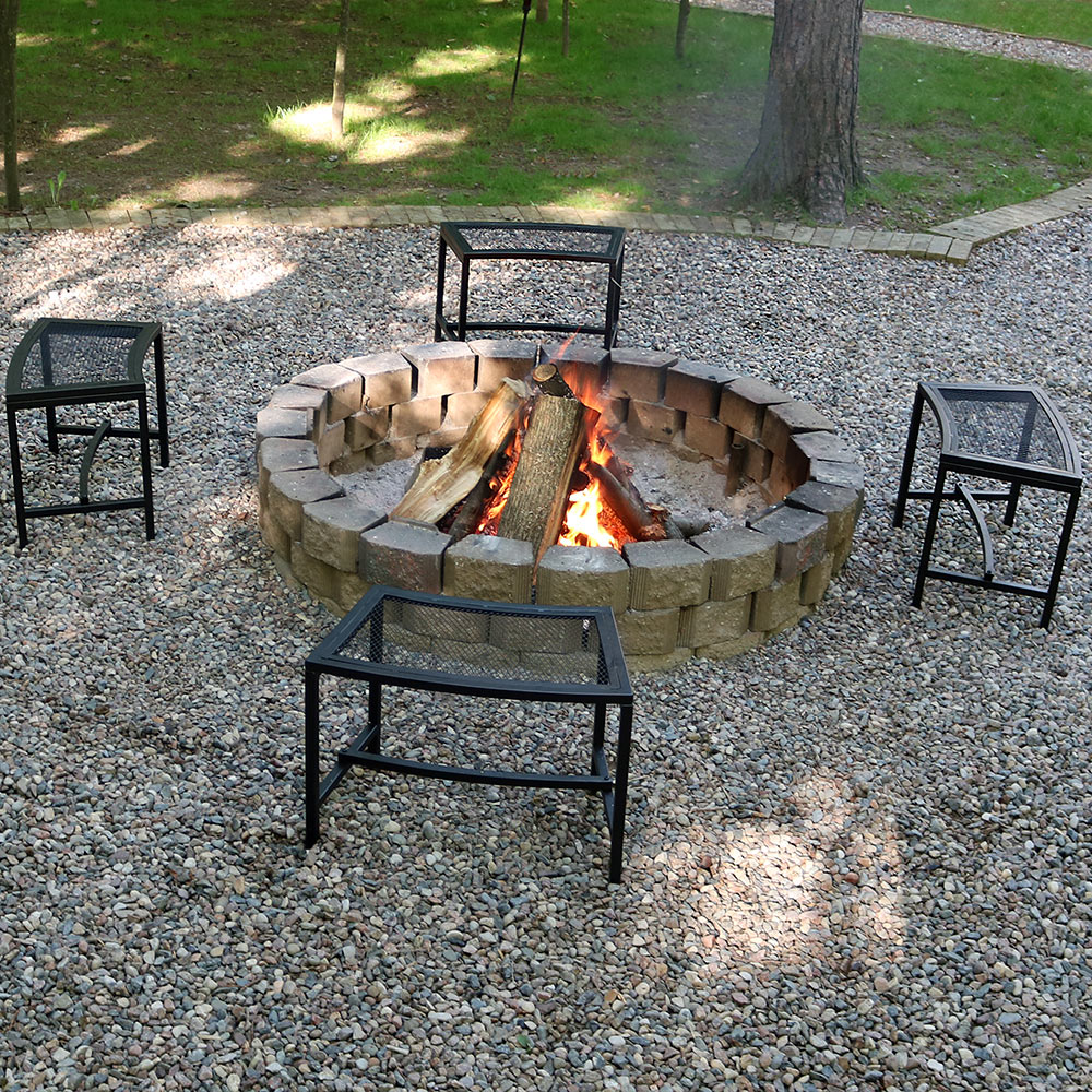 Sunnydaze Mesh Patio Fire Pit Bench Picture 482