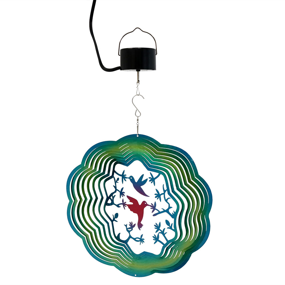 Sunnydaze Reflective D Whirligig Turquoise Hummingbird Wind Spinner Picture 993