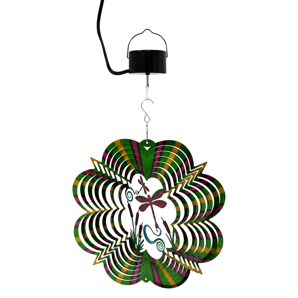 Sunnydaze Reflective D Whirligig Dragonfly Wind Spinner Picture 1002