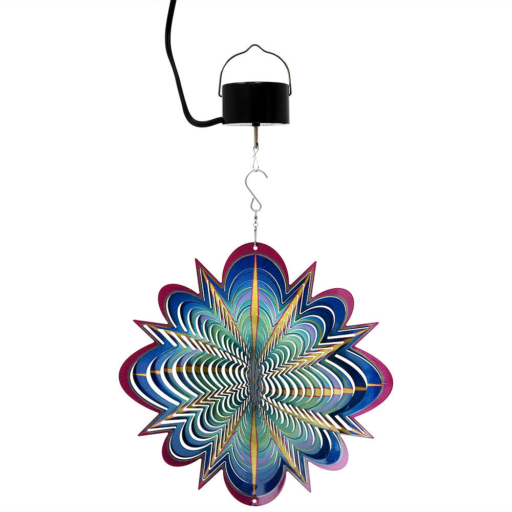 Sunnydaze Blue Dream D Whirligig Wind Spinner Picture 948