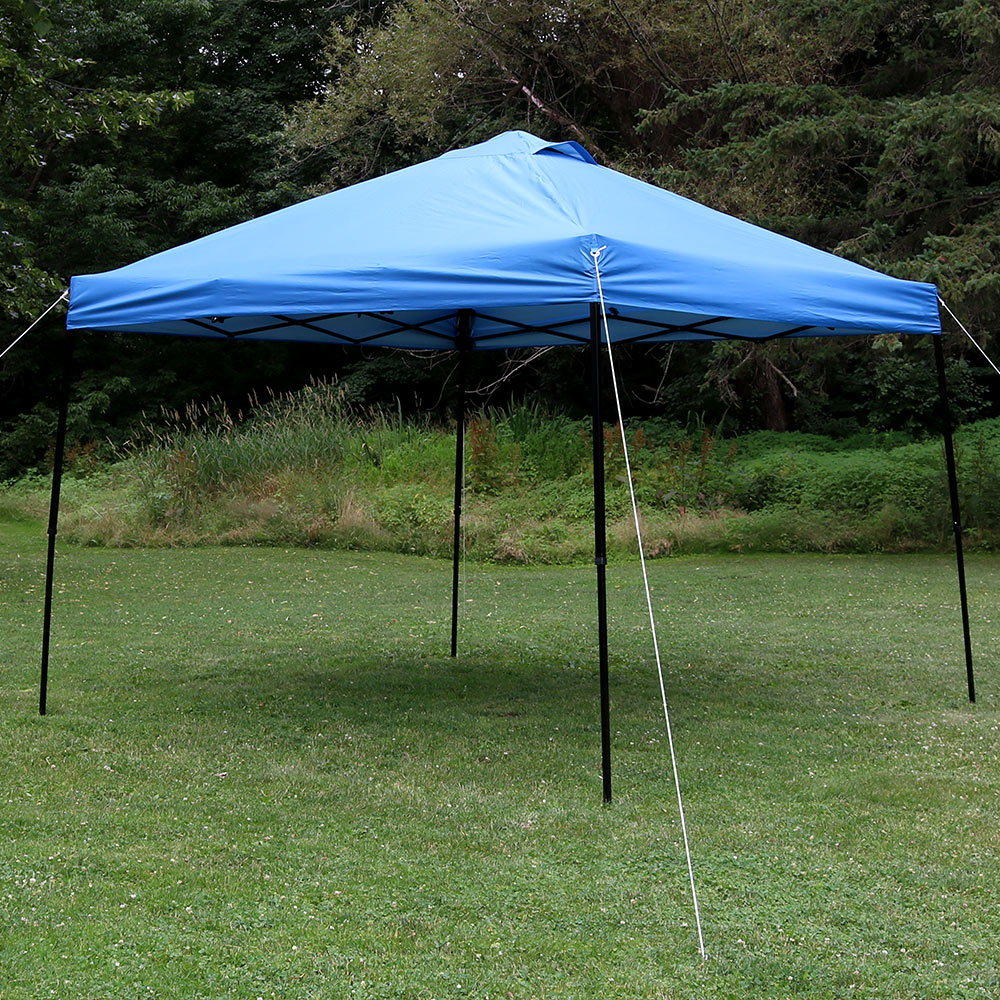 Sunnydaze Heavy Duty Straight Leg Quick Up Instant Canopy Event Shelter Foot Blue Includes Image 547