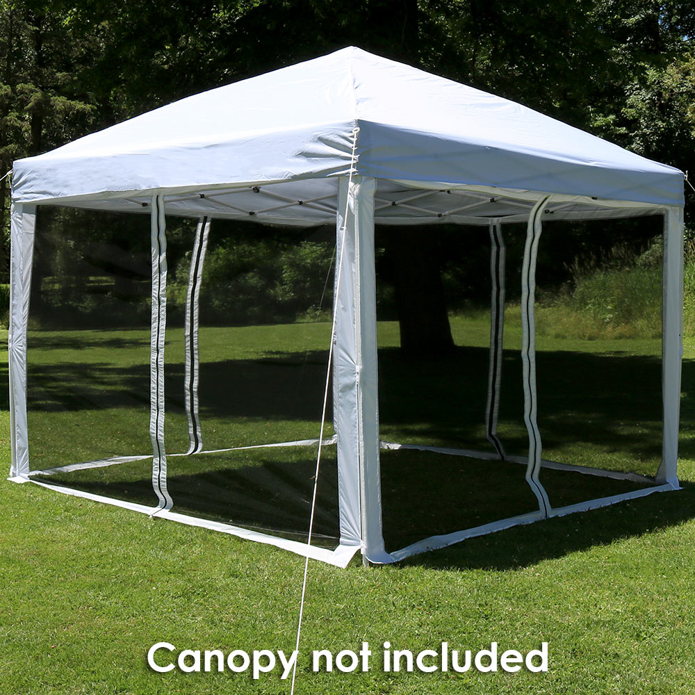 Zippered Mesh Sidewall Kit Ft Straight Leg Canopies Panels All Zippered Entries Picture 657